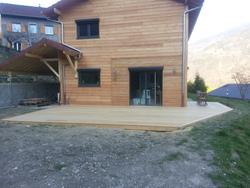 ERBOIS - Terrasse bois - Terrasse en Garapa à Allevard